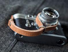 TAP & DYE  L E G A C Y leather camera wrist strap - Antique Tan.
