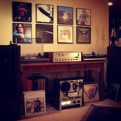 I feel one has to have a collection of vinyl and vintage stereo equipment.