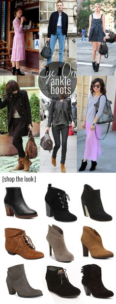 I'm am in love with ankle boots!