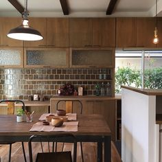 Inspiring Japanese Kitchen Style - My Little Think Home Kitchens, Kitchen Remodel, Mid Century Modern Kitchen Design, Kitchen Remodeling Contractors, Kitchen Interior, Interior Design Kitchen, Kitchen Dining, Kitchen Style, Japanese Kitchen