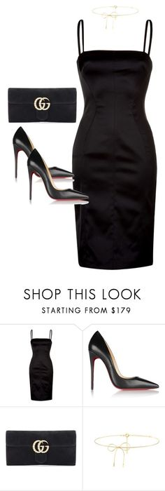 """Untitled #4037"" by dkfashion-658 on Polyvore featuring D&G, Christian Louboutin, Gucci and Lilou"