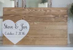 Wedding guest book hand painted wood sign by AmandaGdesigns
