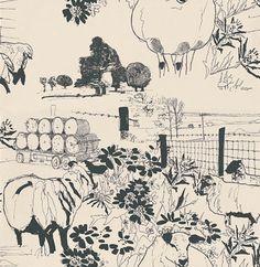 Sheep wallpaper by B
