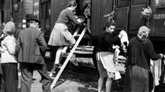Germans in Sudetenland being sent to Germany in 1945
