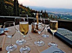 Champagne in the mountains