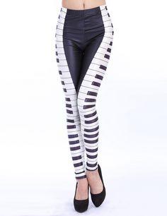 Leggings Piano-blanco y negro 13.70