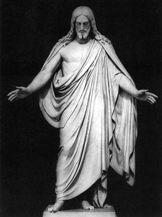 Bertel Thorvaldsen, Cristo, 1821, marmo, Thorvaldsen Museum, Copenahgen