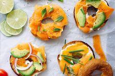 Papaya Lox with Lemon Cream Cheese   Nutrition Stripped, vegan cream cheese, vegan lox recipe