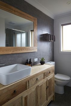 House Rules: Charity House Reveal + grand final is here Laundry Tubs, Laundry In Bathroom, Bathroom Inspo, Bathroom Ideas, My House Rules, House 2, Farm House, Boy Bath, Wood Vanity