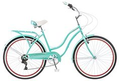 "Schwinn 26"" Ladies Perla 7 Speed Cruiser Bike, 26-Inch, Blue 