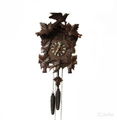 Винтажные настенные часы с кукушкой