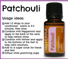 Patchouli oil uses