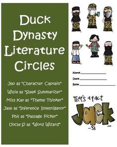 Duck Dynasty Common Core Reading Literature Circles  This unit is a great way to put a fun spin on teaching the Common Core Standards for Reading: Literature in your classroom! $