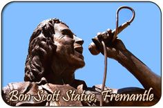 Bon Scott Statue, Fremantle, Western Australia - Lead Singer of AC DC Night Club, Night Life, Bon Scott, Live Band, Ac Dc, Western Australia, Perth, Orchestra, Comedy
