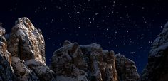 A Star in the midst of the Dolomites