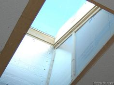 Skylight installation and finishing. Diy Skylight, Skylights, Roof Light, Windows, Living Room, Remodeling Ideas, Bing Images, House, Design Ideas