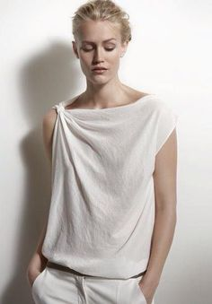 Beautiful white blouse neckline.