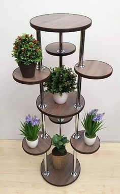 Design Ideas For Your Garden Tall Plant Stands, Modern Plant Stand, Wooden Plant Stands, Stand Tall, Metal Furniture, Home Decor Furniture, Diy Home Decor, Room Decor, Indoor Plant Shelves