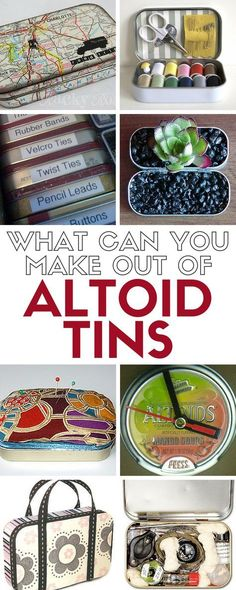 Don't throw away that empty Altoids tin, upcycle the tin into something fantastic with these simple DIY craft tutorial ideas.