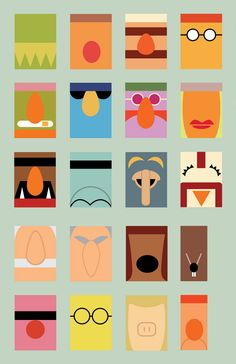 minimalist muppets poster by eric slager