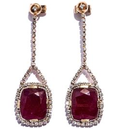 Ruby diamond surround earrings by Jade Jagger  #matchesfashion
