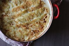 Potato, Bacon and Leek Gratin