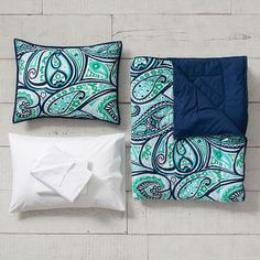 Paisley Perfect Value Comforter Set with Sheets, Pillowcase, Comforter + Sham | PBteen