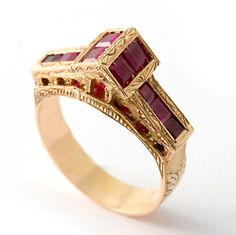Nardis Rialto ring in gold with rubies and fancy coloured diamonds. A very precious way to remember a visit to Venice. Ruby Jewelry, Jewelry Art, Antique Jewelry, Jewelry Rings, Vintage Jewelry, Fine Jewelry, Jewelry Design, Handmade Jewelry, Ring Set