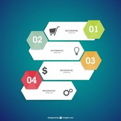 Infographics vector option elements