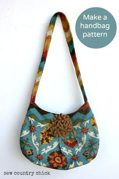 Tutorial -- How I make a handbag pattern and sew it - Sew Country Chick- Farmhouse Couture