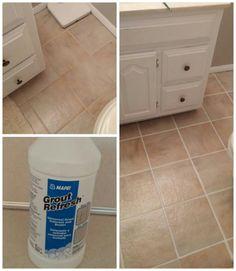 Color sealant gives a completely different look tile for How to make grout white again