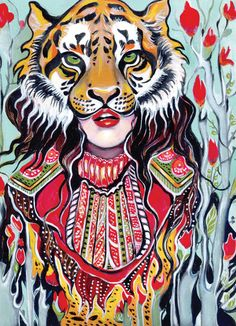 Tiger Woman Art Print. In love with this one