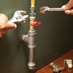 Make gas line connections from steel or copper pipes to ranges and clothes dryers safe and secure by using the proper fittings and connections. We show you how.
