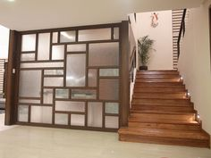 55 Ideas For Wall Partition Design Glass Blocks Wood Partition Design, Glass Partition Designs, Glass Partition Wall, Living Room Partition Design, Glass Screen Door, Classic House Exterior, Living Room Trends, Decoration Inspiration, Wood Glass
