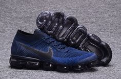 Mens Nike Air Vapormax Flyknit Running Shoes College Navy on www.curry5low.com Air Max Nike Shoes, Running Shoes Nike, Nike Free Shoes, Black Running Shoes, Nike Basketball Shoes, Nike Shoes Cheap, Jordan Shoes, Cheap Nike Trainers, Nike Sneakers