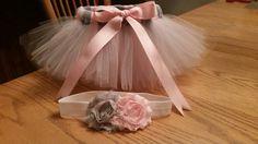 Pink and Gray newborn set