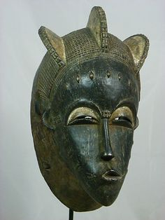 Fine African Tribal Mask BAULE Mask Collectible African Art