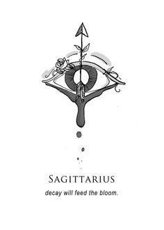 'Sagittarius - Shitty Horoscopes Book IV: Resolutions' by musterni Zodiac Symbols, Zodiac Art, My Zodiac Sign, Sagittarius Quotes, Sagittarius Astrology, Sagittarius Tattoo Designs, Sagittarius Constellation, Petit Tattoo, Saggitarius