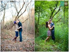 Newlywed tradition: take a picture in the same spot for all four seasons, frame together for your first year of marriage!