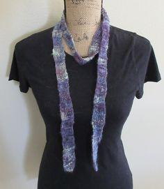 Dropstitch lace handspun scarf