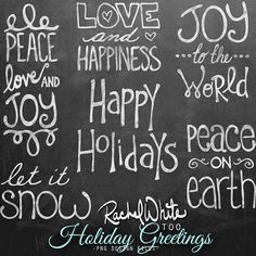 Holiday Greetings, Vector & PNG by Rachel White Art on Creative Market