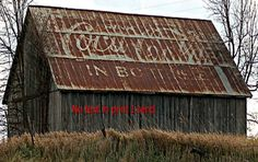 Coca Cola sign painted on barn roof 8X10 PRINT Coke in bottles | eBay