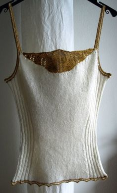 knit camisole - like the side detail n structure , not sure about lacey edge