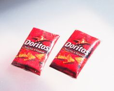 Miniature Doritos Earring STud/Post by Siawlei on Etsy, $8.50