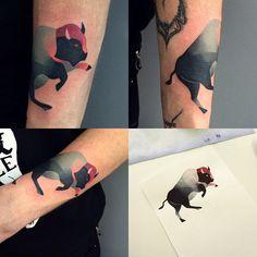 #buffalo #bison #tattoo #sashaunisex #watercolor #vladbladirons