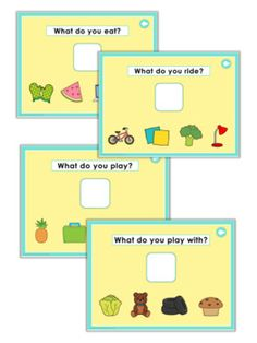 What Questions for Special Education Plus Powerpoint Game Activities For One Year Olds, Special Education Activities, Language Activities, Preschool Activities, Eal Resources, Speech Therapy Worksheets, Powerpoint Game Templates, Mickey Coloring Pages, Welcome To School