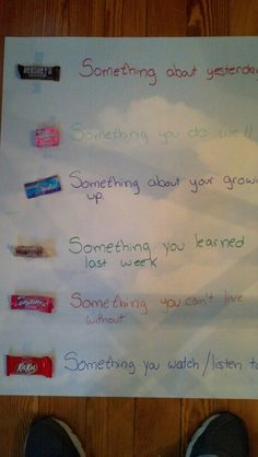 Halloween candy ice breaker for youth group.