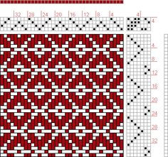 Hand Weaving Draft: 12 schäftig mit 12 Karten 46, Lehr-Methode der Weberei, Ferdinand A. Langewald, 4S, 7T - Handweaving.net Hand Weaving and Draft Archive