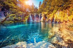 How to get from Zadar to Plitvice Lakes is a common question. Luckily, getting from Zadar to Plitvice Lakes National Park is easy in Most Romantic Places, Wonderful Places, Beautiful Places, Peaceful Places, Romantic Vacations, Beautiful Scenery, Romantic Travel, Beautiful Waterfalls, Beautiful Landscapes