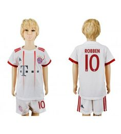 Bayern Munchen Arjen Robben 10 Tredjeställ Barn 17-18 Kortärmad James Rodriguez, Robert Lewandowski, Neymar, Messi, Munich, Ronaldo, Arm, Pajama Pants, Pajamas